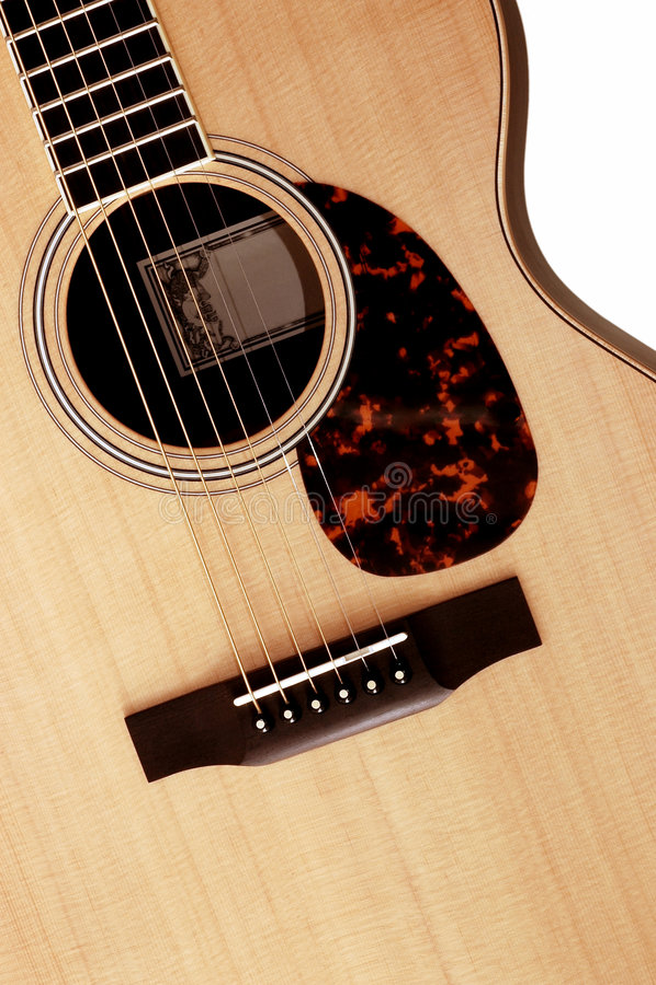 Guitarra acústica imagem de stock