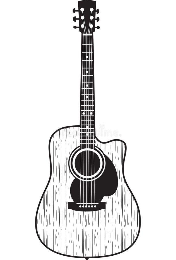 Guitarra acústica ilustración del vector