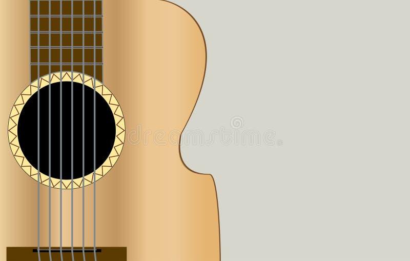 Guitarra acústica clásica fotografía de archivo libre de regalías