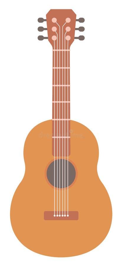 Guitarra acústica clássica ilustração stock