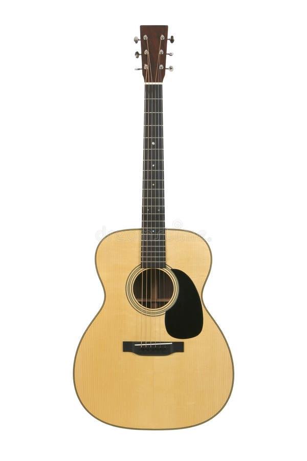 guitarra acústica de la Acero-cadena fotografía de archivo libre de regalías