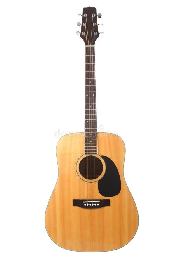 Guitarra acústica hermosa aislada en blanco imágenes de archivo libres de regalías