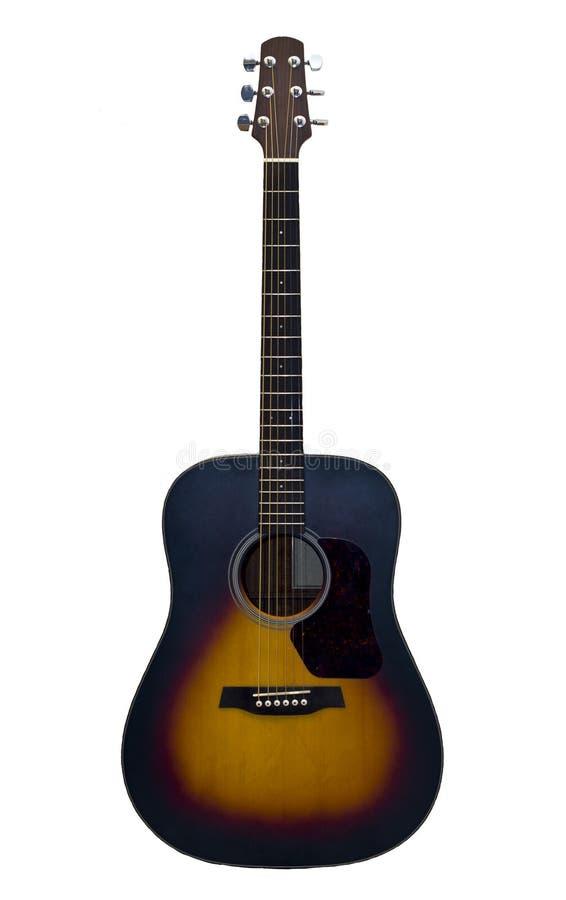 Guitarra acústica isolada no fundo branco imagem de stock royalty free