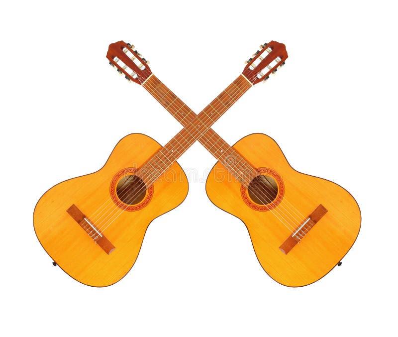 Guitarra acústicas ilustração stock