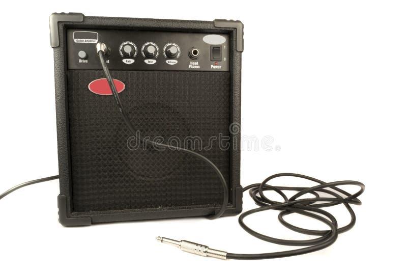 Guitarra ampère fotografia de stock