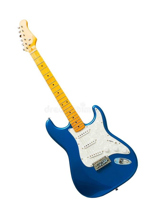 Guitarra azul aislada fotos de archivo