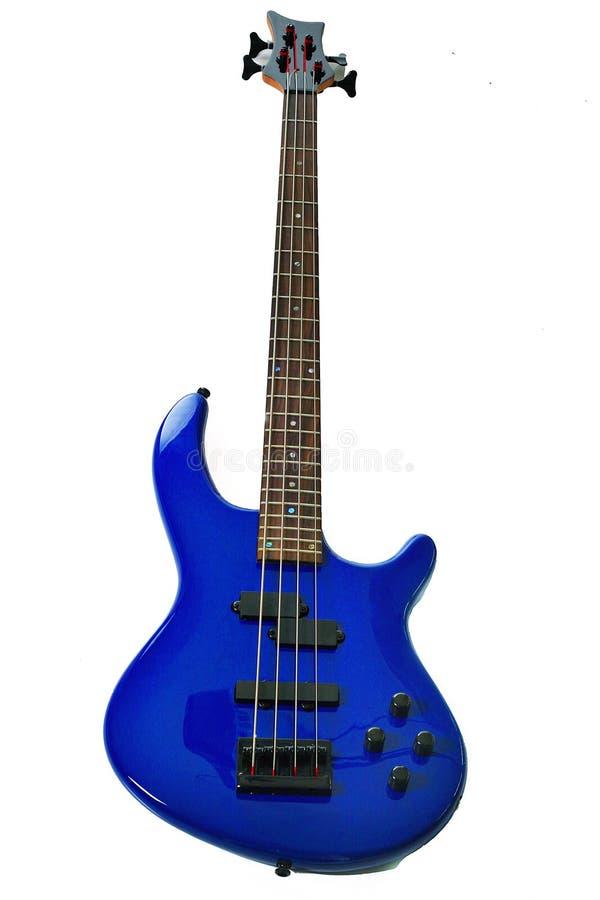 Guitarra baixa azul imagem de stock