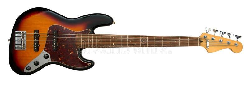 Guitarra baixa de corda cinco foto de stock