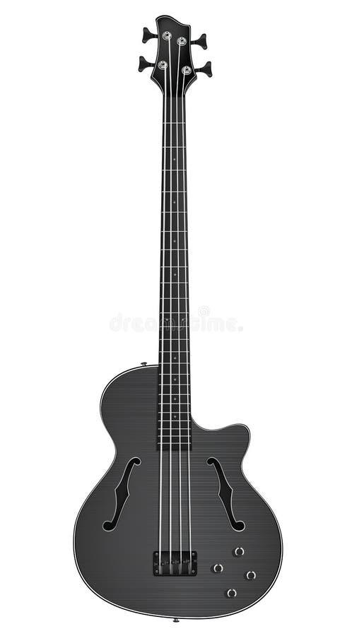 Guitarra baixa elétrica ilustração stock