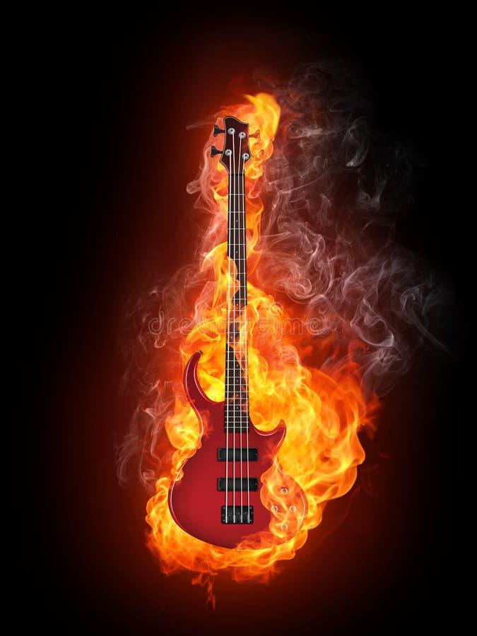 Guitarra baixa elétrica ilustração royalty free