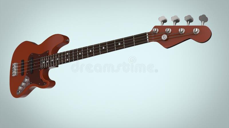 Guitarra baixa elétrica ilustração do vetor