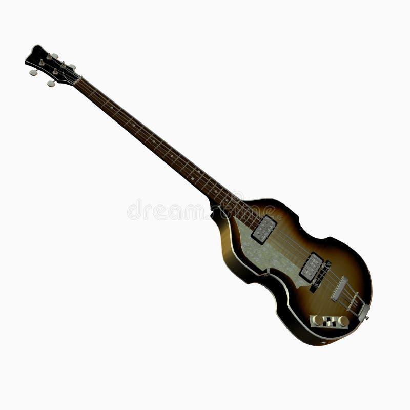 Guitarra baixa legendária de Beatles ilustração royalty free
