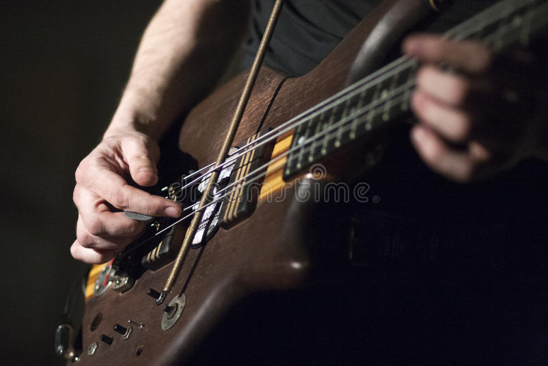 Guitarra-baixo foto de stock royalty free