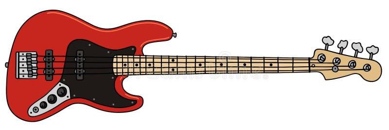 Guitarra-baixo ilustração royalty free