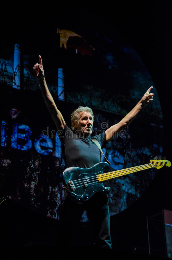 Guitarra-baixo de Roger Waters (Pink Floyd) foto de stock royalty free