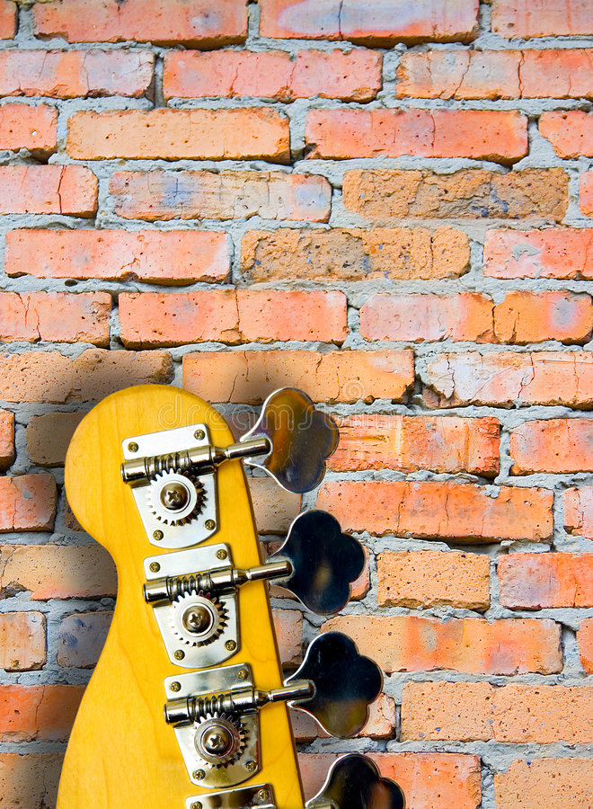 Guitarra baja fotografía de archivo libre de regalías