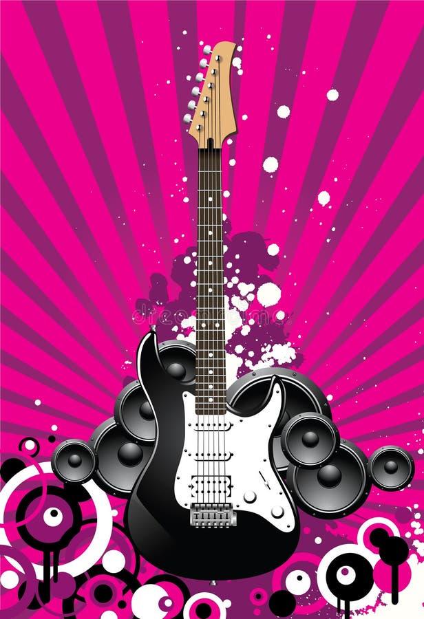Guitarra bonita ilustração do vetor