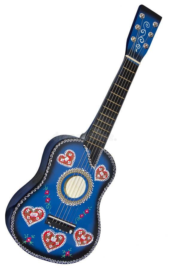 Guitarra-brinquedo azul imagem de stock royalty free
