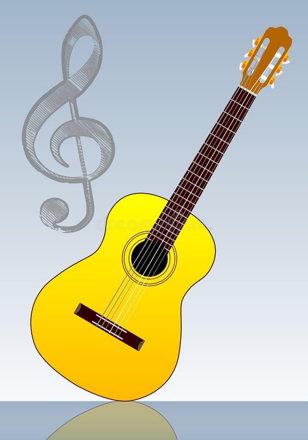 Guitarra clássica ilustração do vetor