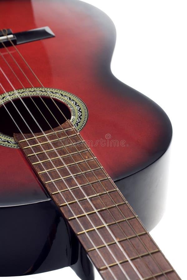 Guitarra Clássica Preta E Vermelha Foto de Stock