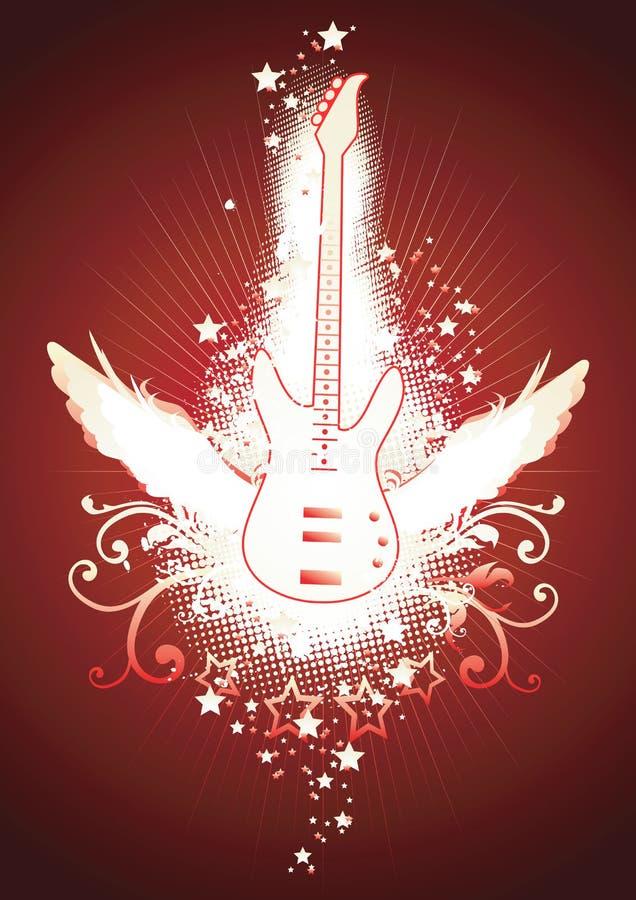 Guitarra coa alas libre illustration