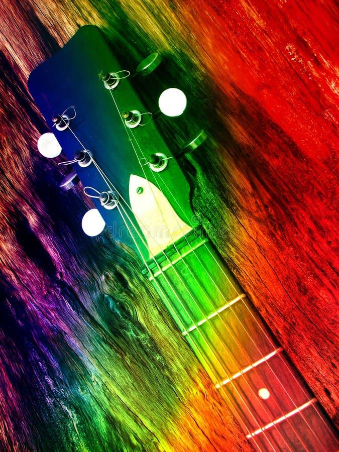 Guitarra colorida fotos de archivo