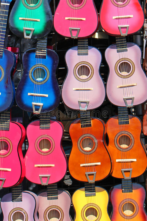 Guitarra coloridas fotografia de stock