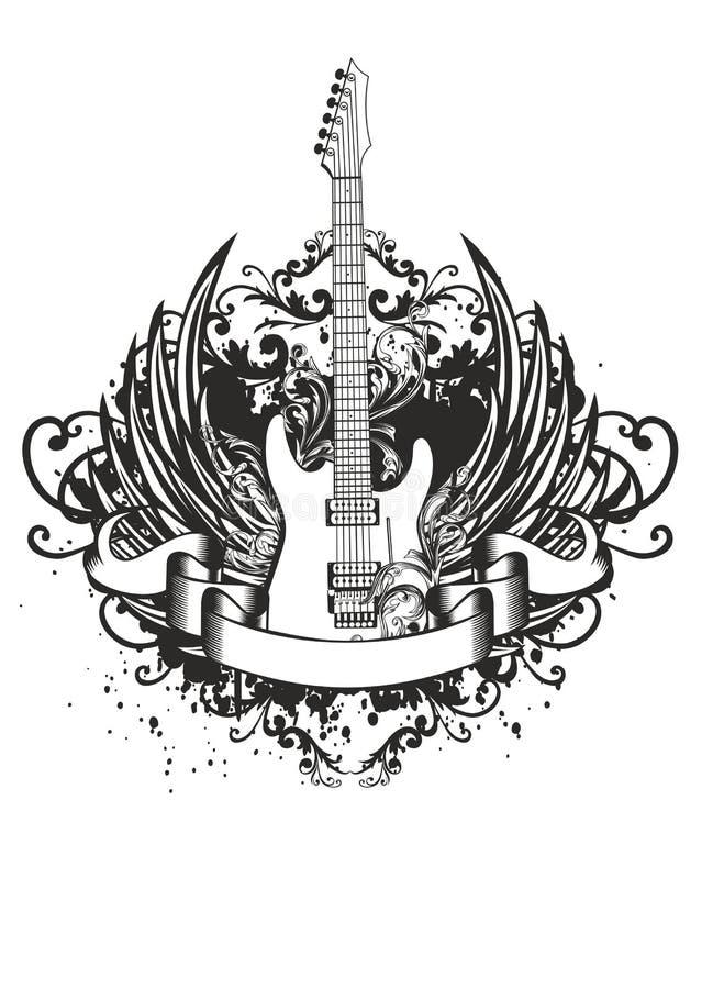 Guitarra con las alas, modelos libre illustration