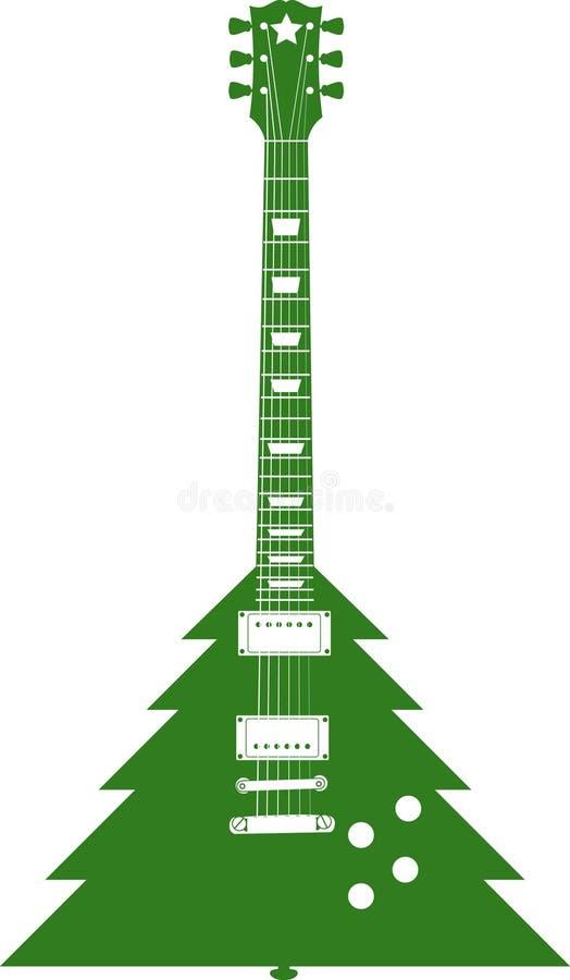 Guitarra da árvore de Natal ilustração stock