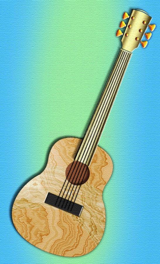Guitarra da arte popular ilustração do vetor