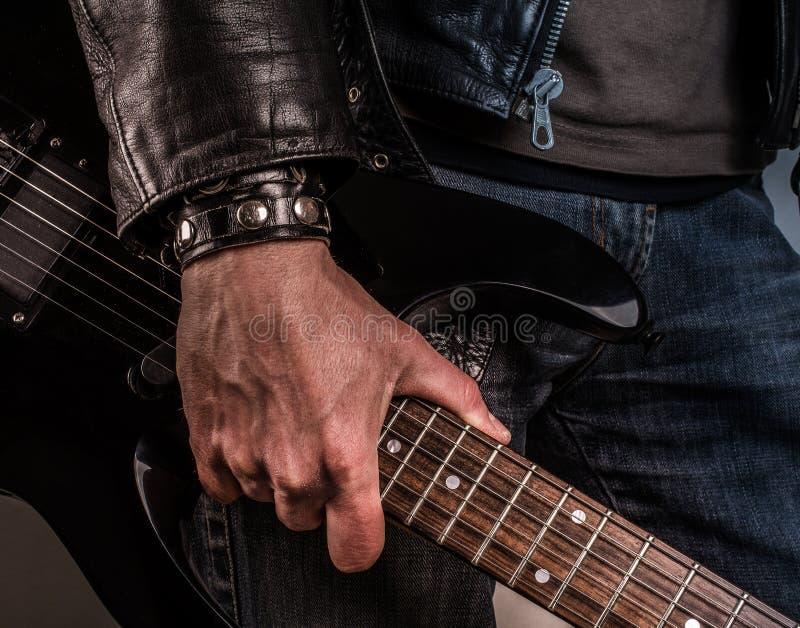 Guitarra da rocha imagens de stock