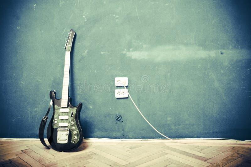Guitarra de Grunge imagens de stock