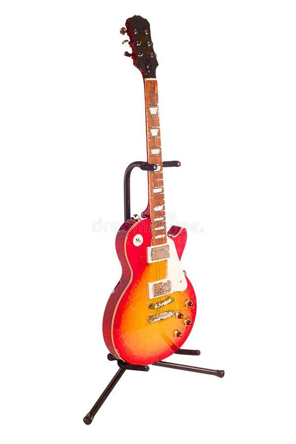 Guitarra de la acuarela stock de ilustración