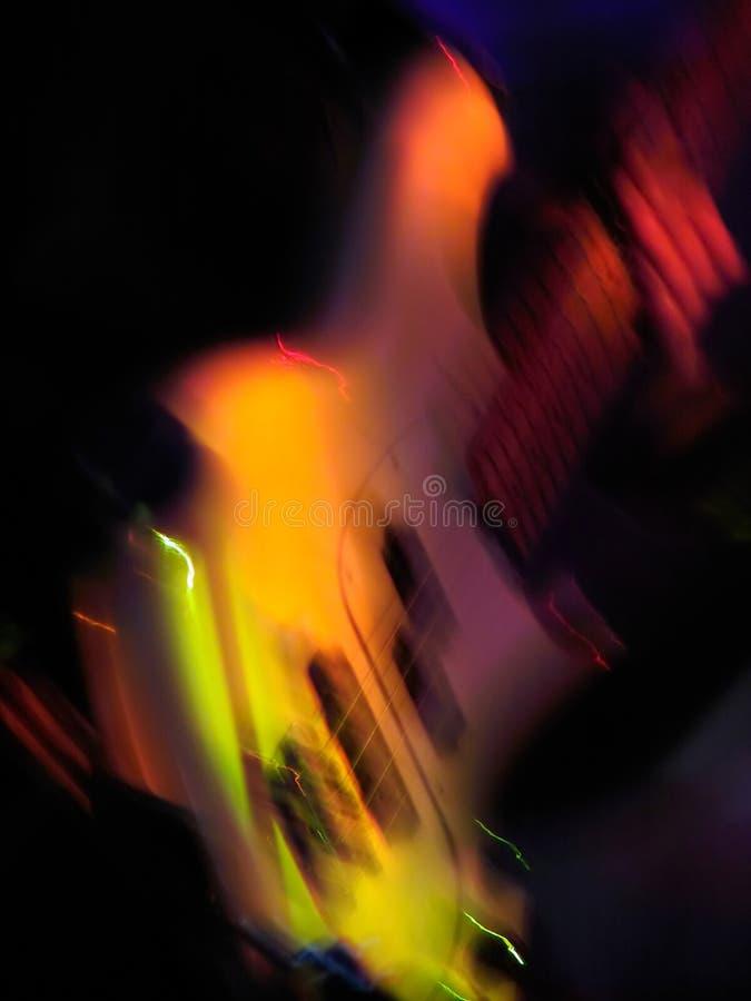 Guitarra de la iluminación fotos de archivo libres de regalías