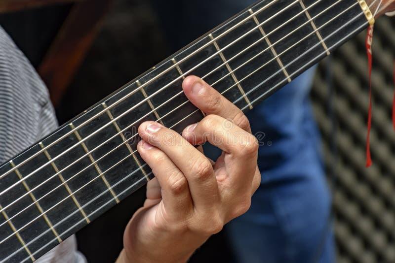 Guitarra de sete cordas imagem de stock