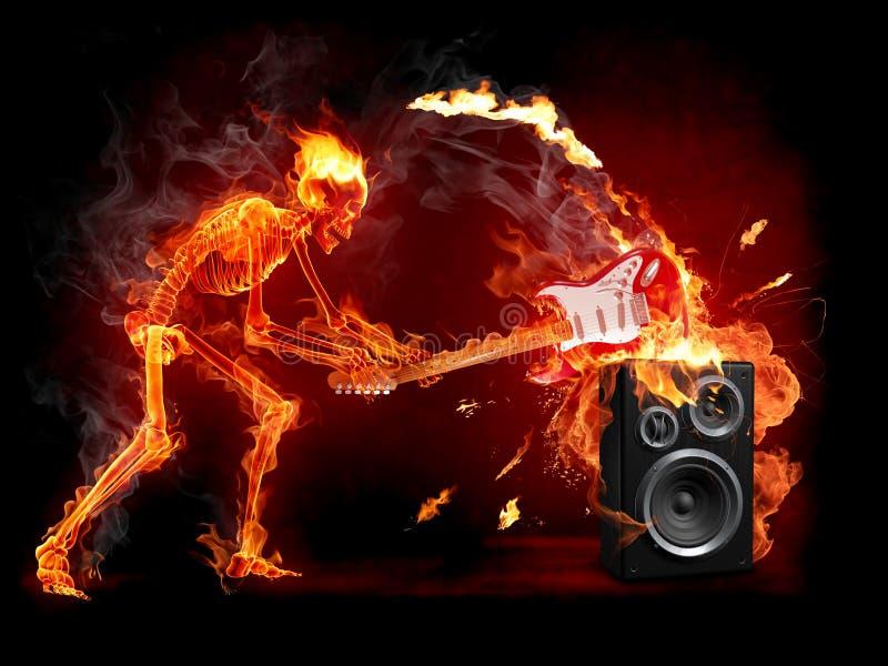 Guitarra del agolpamiento ilustración del vector