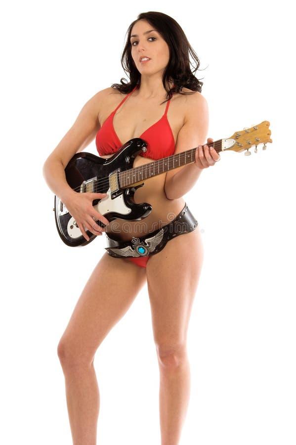 Guitarra del bikiní foto de archivo libre de regalías