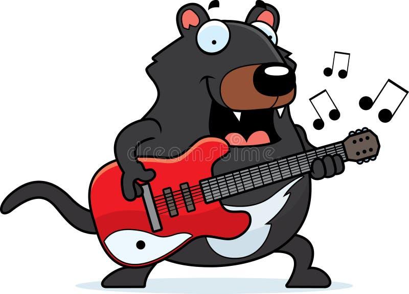 Guitarra del diablo tasmano de la historieta stock de ilustración