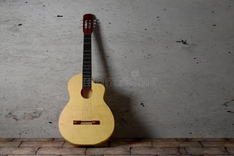 Guitarra del flamenco stock de ilustración