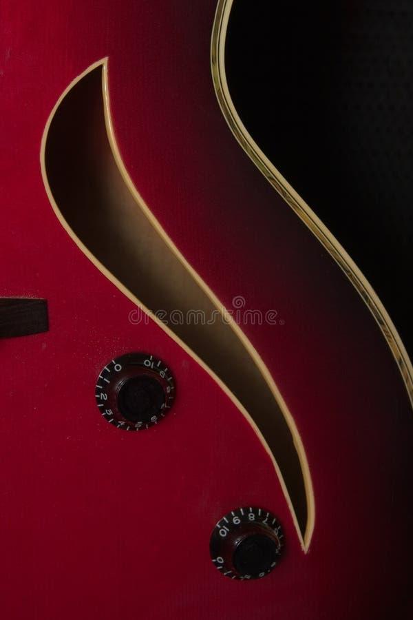 Guitarra del jazz foto de archivo libre de regalías