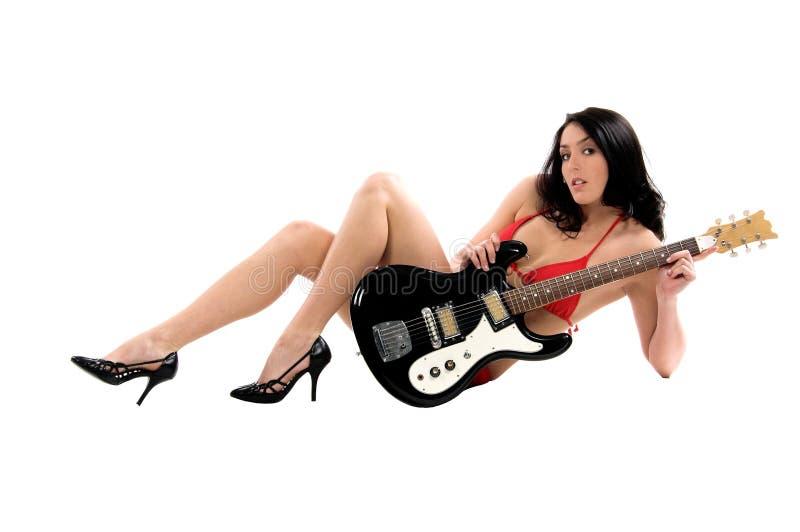 Guitarra do biquini imagens de stock royalty free