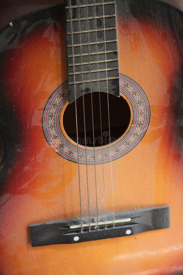 Guitarra do clássico da antiguidade fotos de stock royalty free