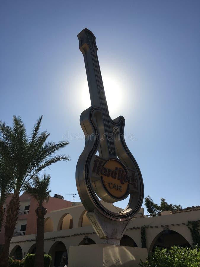Guitarra do Hard Rock Café imagem de stock