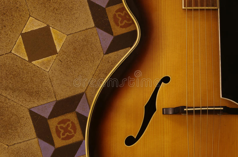 Guitarra Do Jazz Foto de Stock Royalty Free