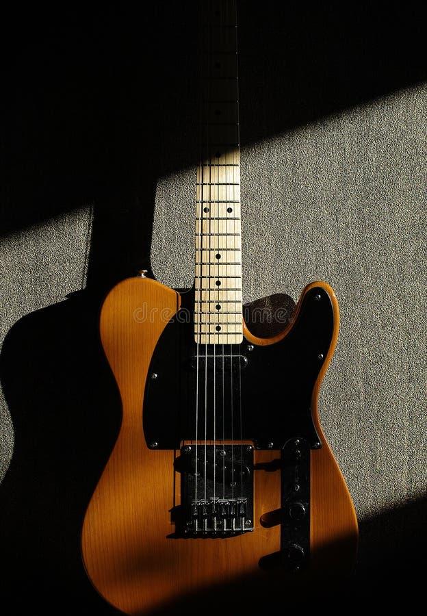 Guitarra do Telecaster foto de stock