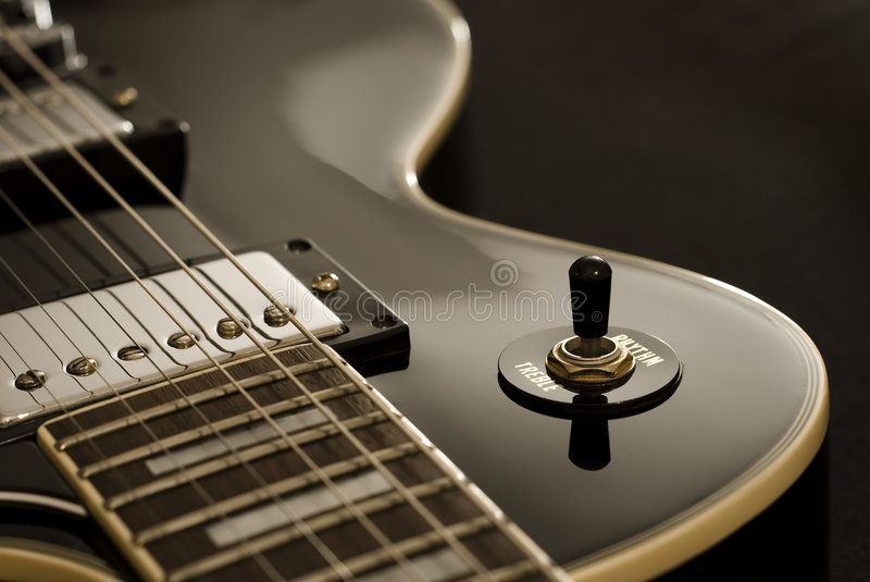 Guitarra do vintage fotografia de stock