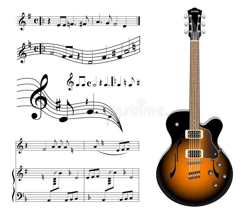Guitarra eléctrica ilustración del vector