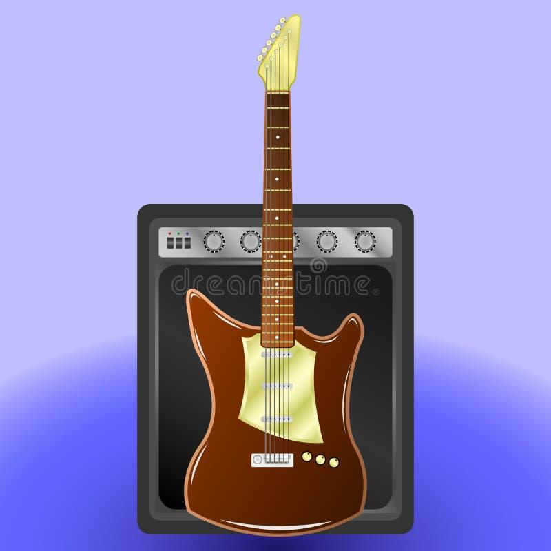 Guitarra eléctrica, amplificador combinado libre illustration