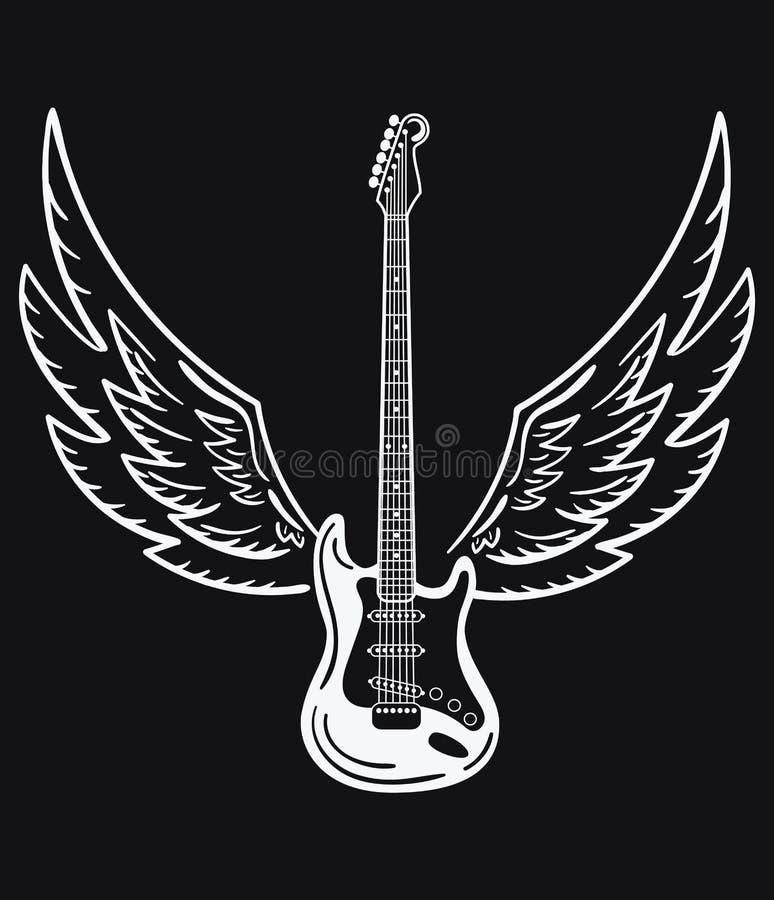 Eléctrica Las Blanco Sonido Un Negro Hace La Con Guitarra Y OXuZiPk