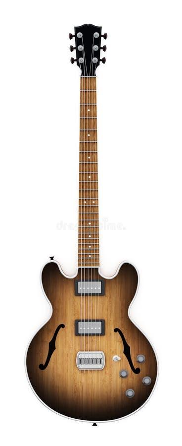 Guitarra eléctrica del vintage aislada en el fondo blanco ilustración 3D libre illustration